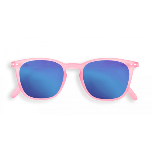 "Izipizi sun ""E"" jelly pink crystal blue mirror lenses"